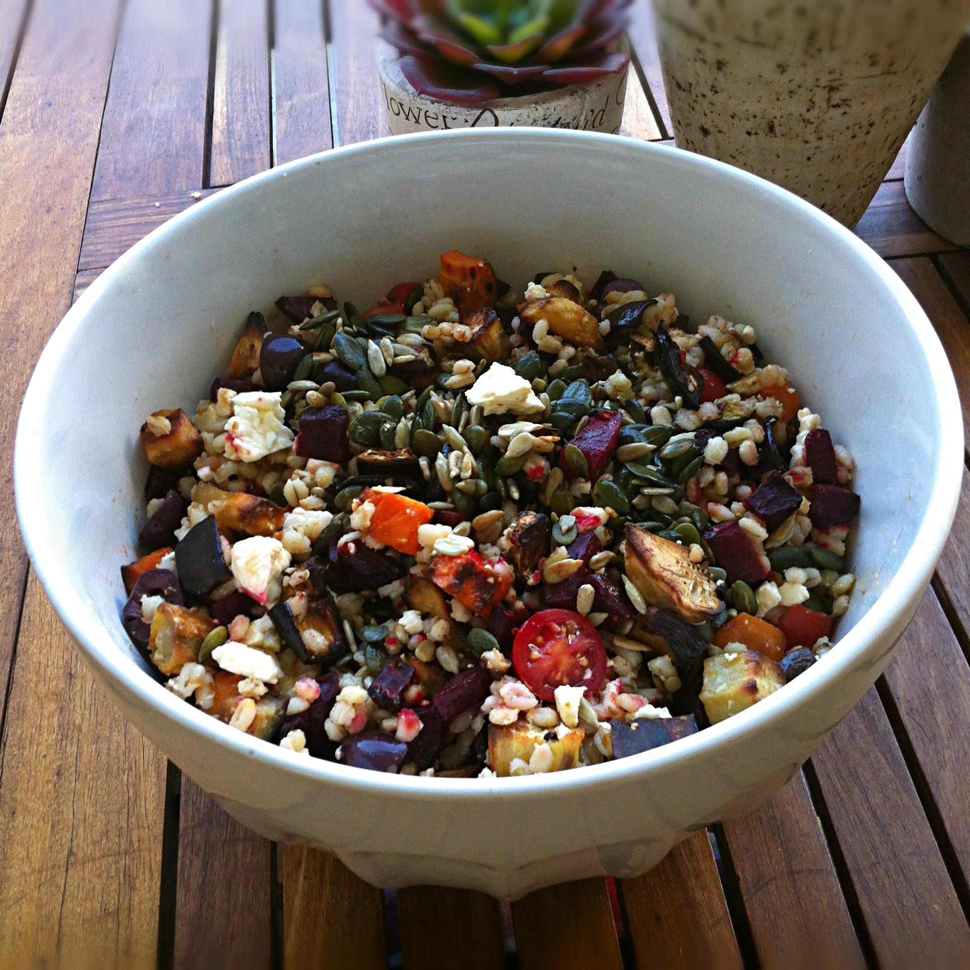 Roast Veggie Barley Salad