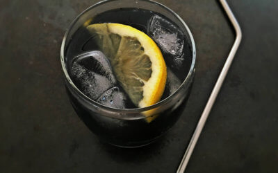 Black Lemonade with activated charcoal