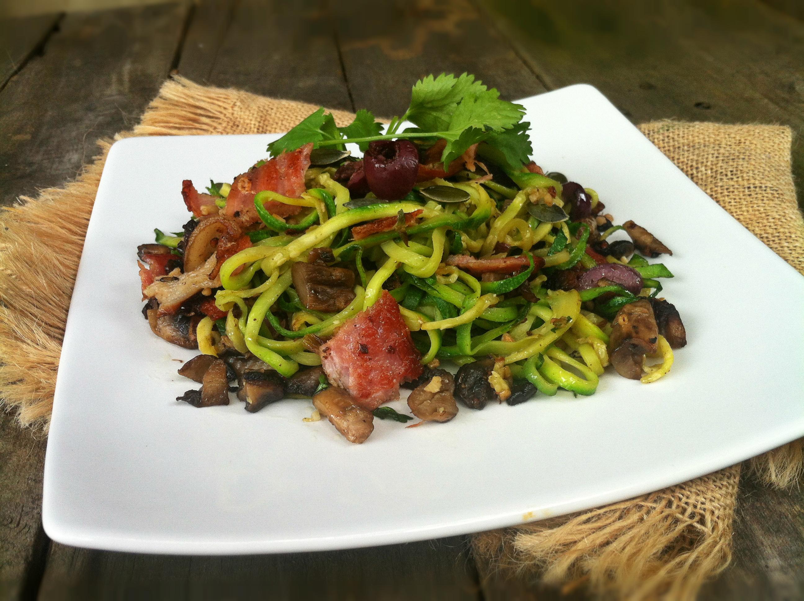 Bacon & Mushroom Courgetti