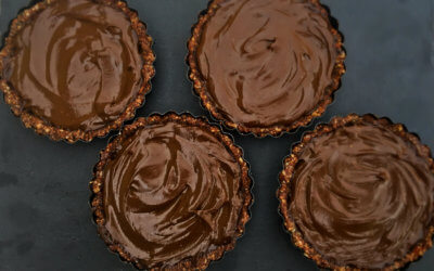 Raw Avocado Chocolate Mousse Tart